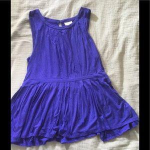 Royal blue top XL